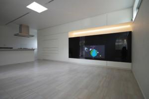 オーダー家具施工事例 テレビボード・キッチンバック収納